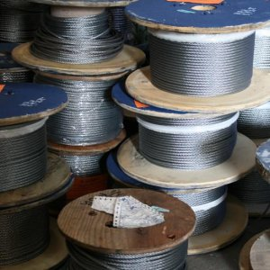 "500′ Reel 1-4"" Galvanized Cable"